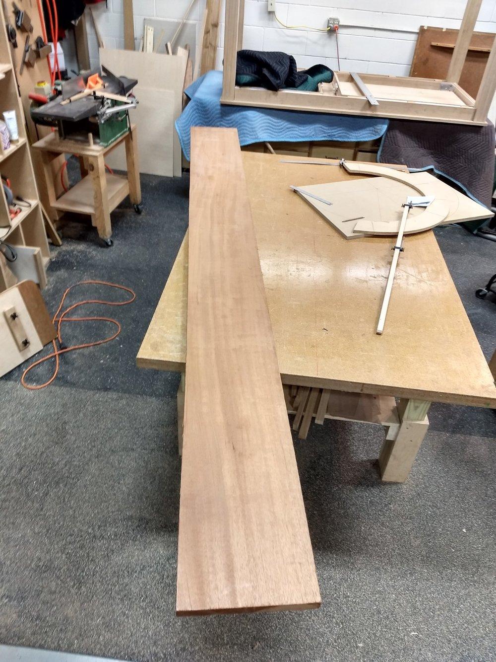 A luxurious piece of mahogany
