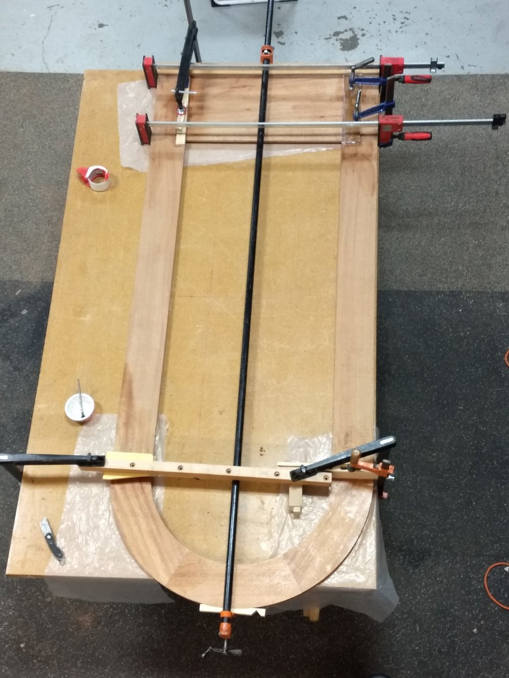 Glued and clamped door