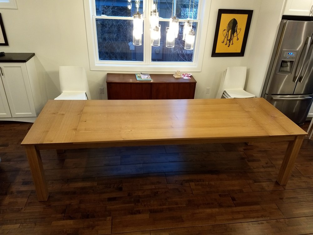 Table with leaves attached