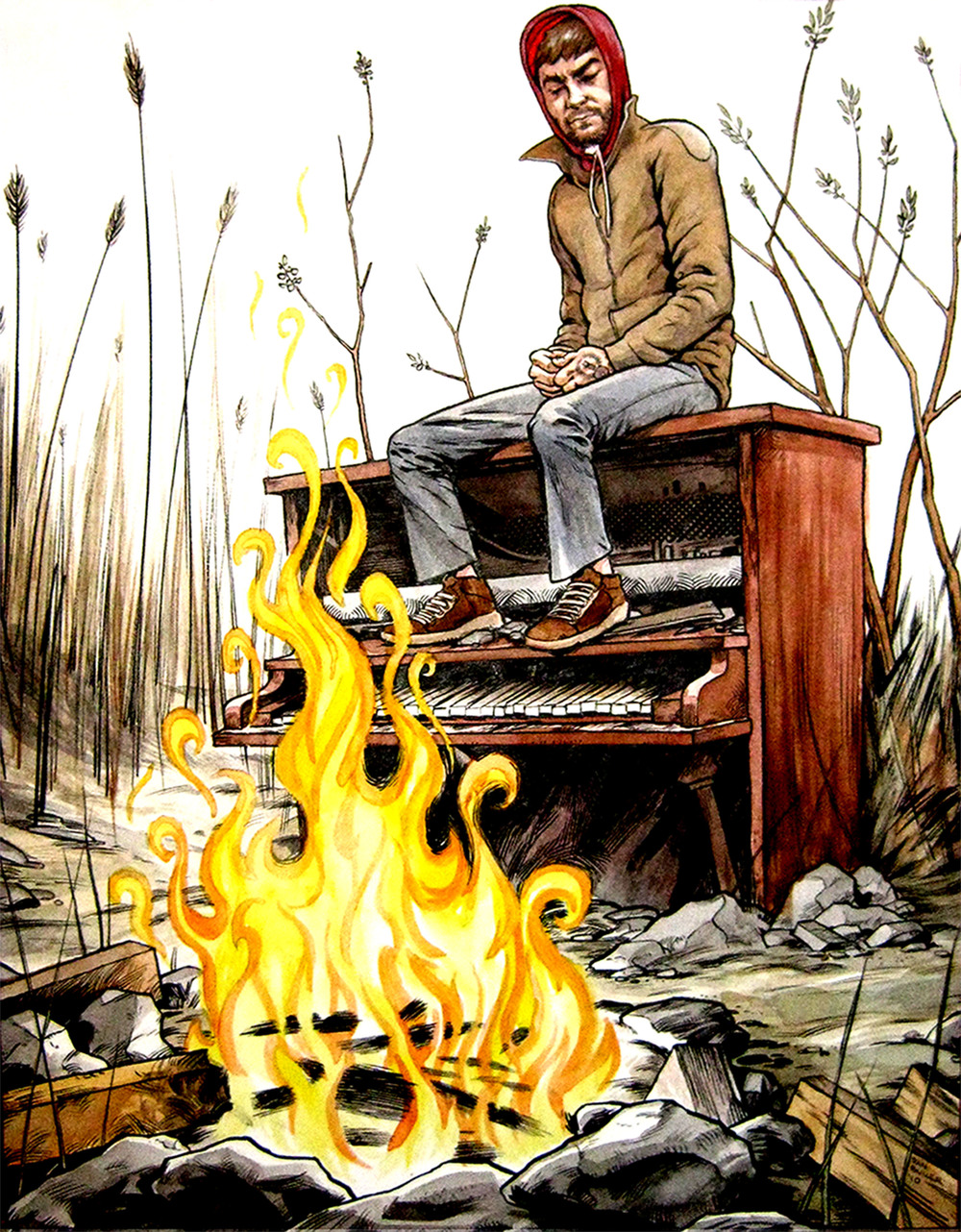 Derek and the Piano Fire
