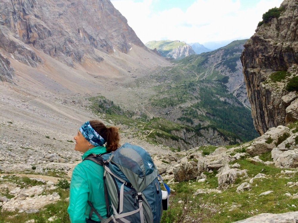 Backpacking in the Dolomite Mountains of Northern Italy August 2017
