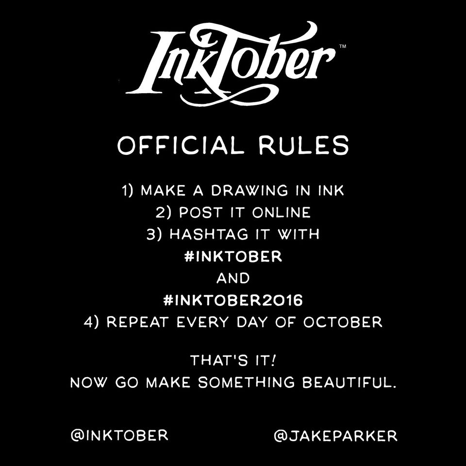 InkTober rules.  Note: The Liminalists does not own this photo