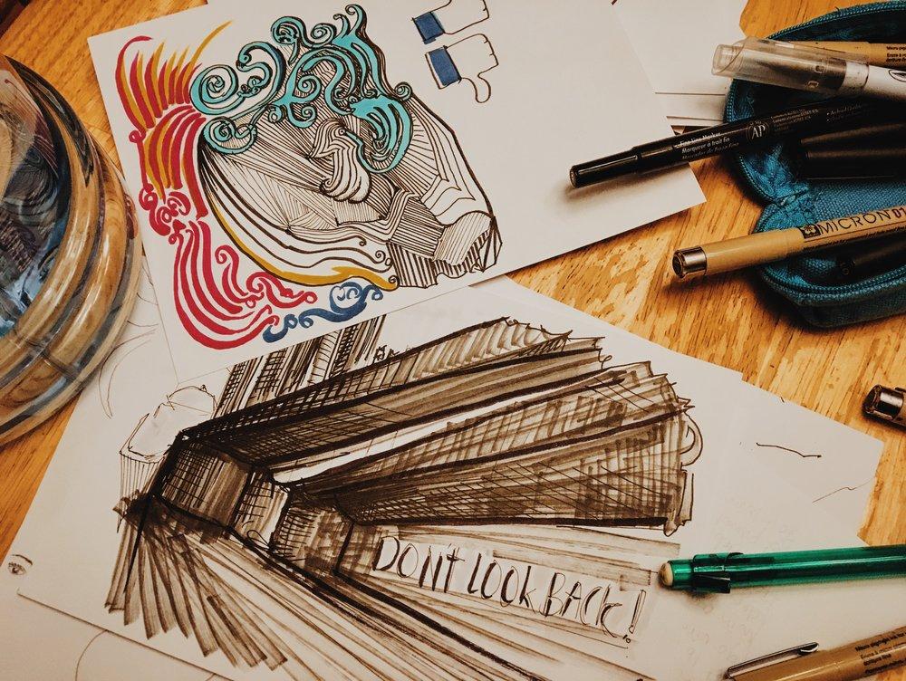 The two random drawings.