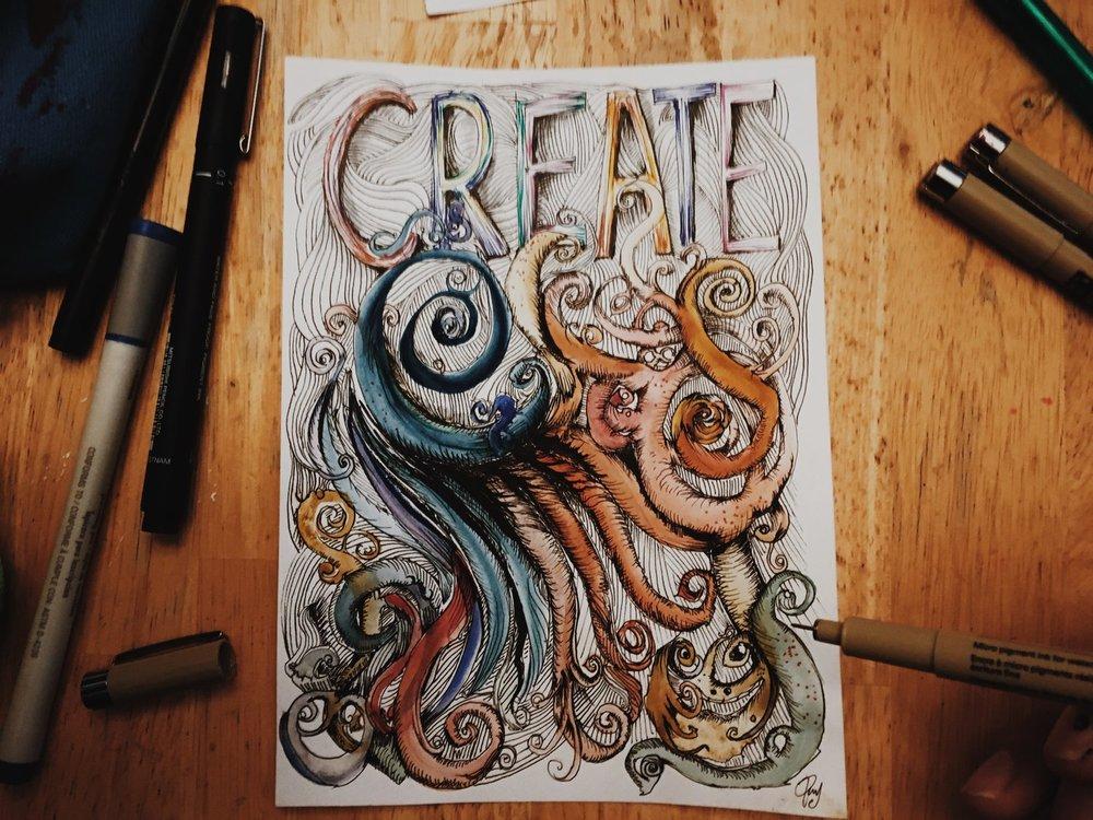 Day 27 - Create - Inktober - Ray Haddad