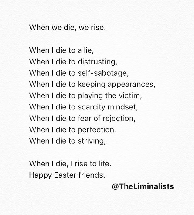 In dying, there is resurrection. #happyeaster
