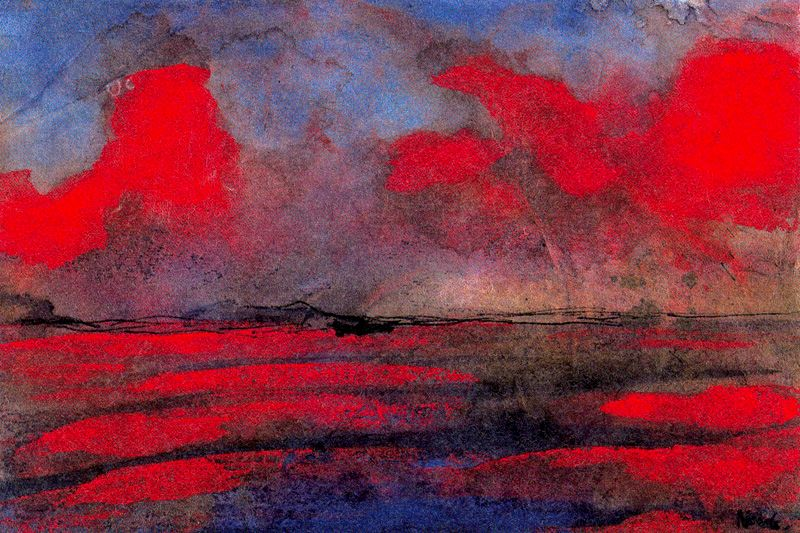 Emil Nolde,  Landscape in Red Light.