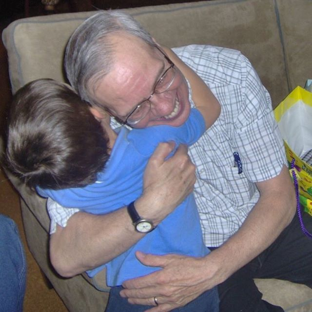 My dad would have been 76 today and one of the things I miss most about him is the way he hugged you with his whole heart. He taught me so much about loving people right where they are. And boy did he love his grand babies! Miss you Dad. 💗