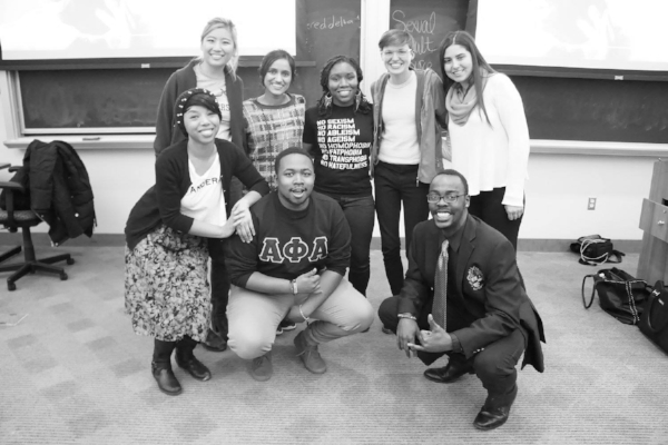 Pictured with Johns Hopkins students after a consent training.