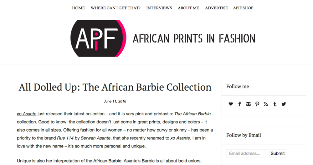 African Prints in Fashion, June 2016