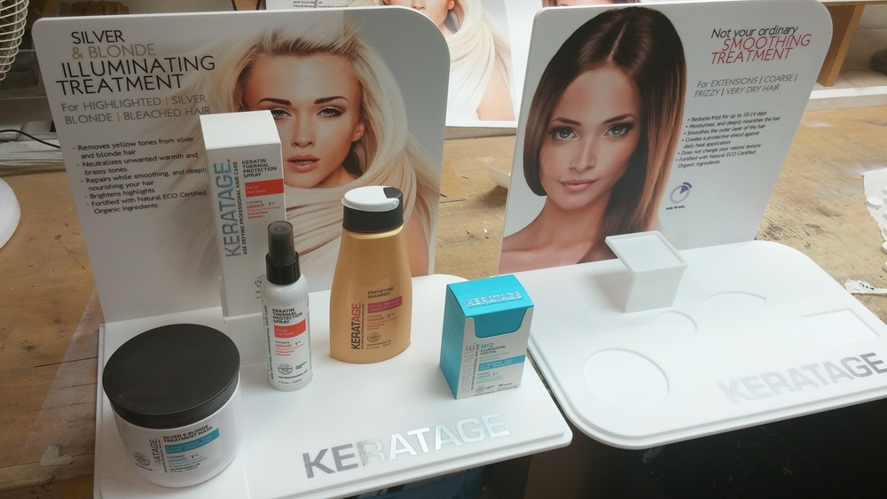 HAIR CARE PRODUCTS DISPLAY