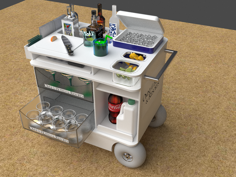 BEACH COCKTAIL CART