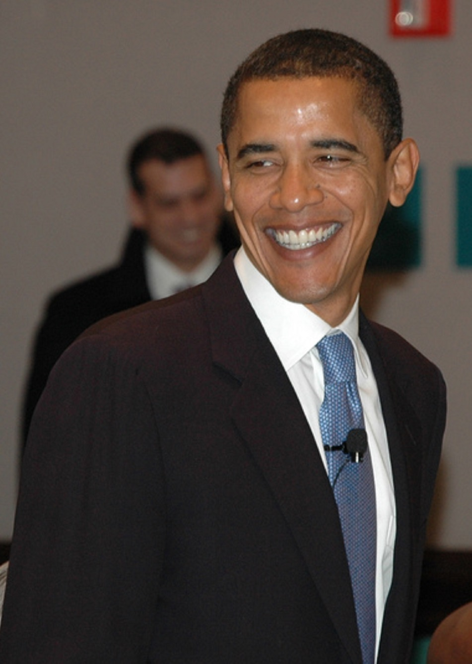 Image of Obama smiling