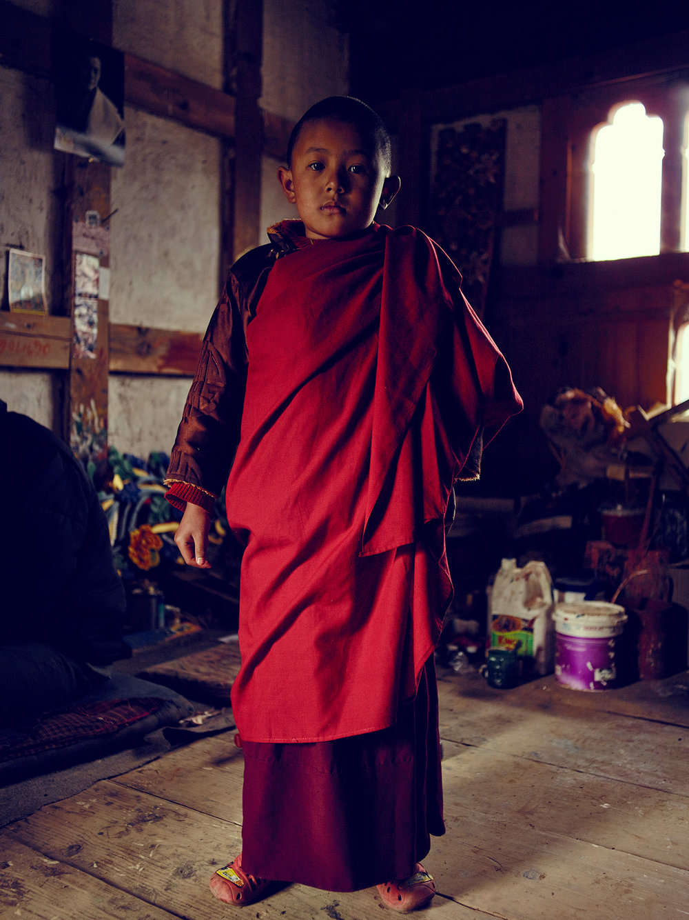 Young Monk in Bhutan