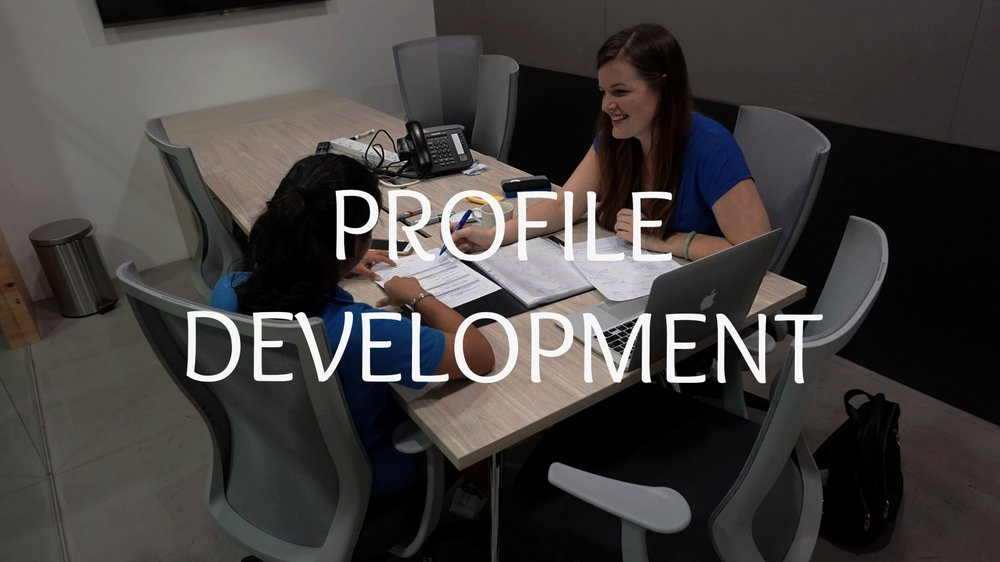 Get a head start on planning with our unique profile development program. We coach younger students to develop their academics and extracurriculars into a compelling profile.