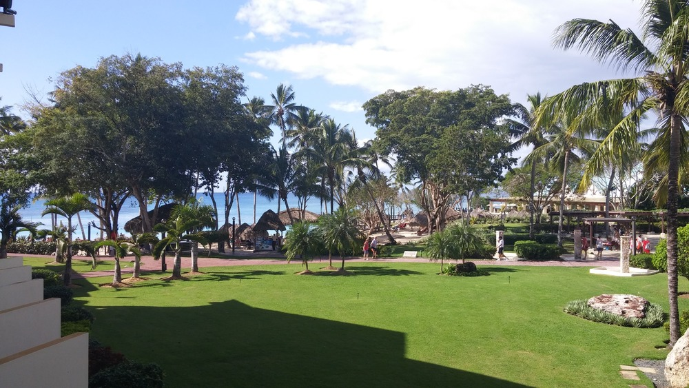 View from our balcony in the Dominican Republic