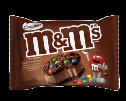 M&M Chocolate Cookie Sandwich