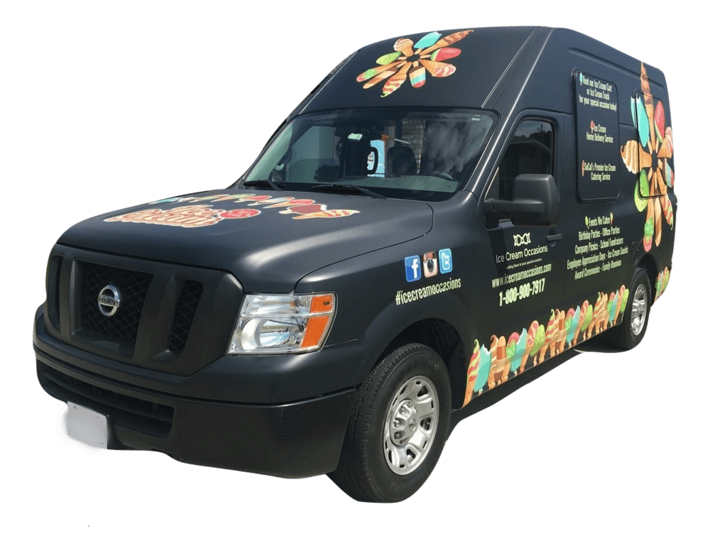 Ice Cream Catering Truck & Rental - Rent this one of a kind Ice Cream Truck for your Special Occasion. Choose from the LARGEST selection of ice cream in the industry. Our Ice Cream Truck is fully insured and includes a licensed and experienced server. Get a Quote or call for pricing.