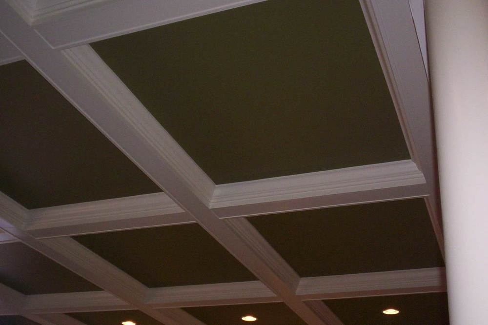 Box Beam Ceiling with Crown - Toll Brothers Chesapeake Model