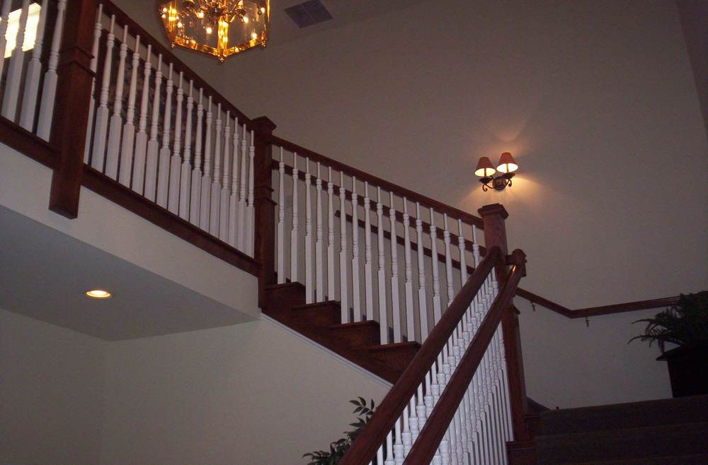 Upgrade Post, Spindles, and Handrail - Toll Brothers Chesapeake Model