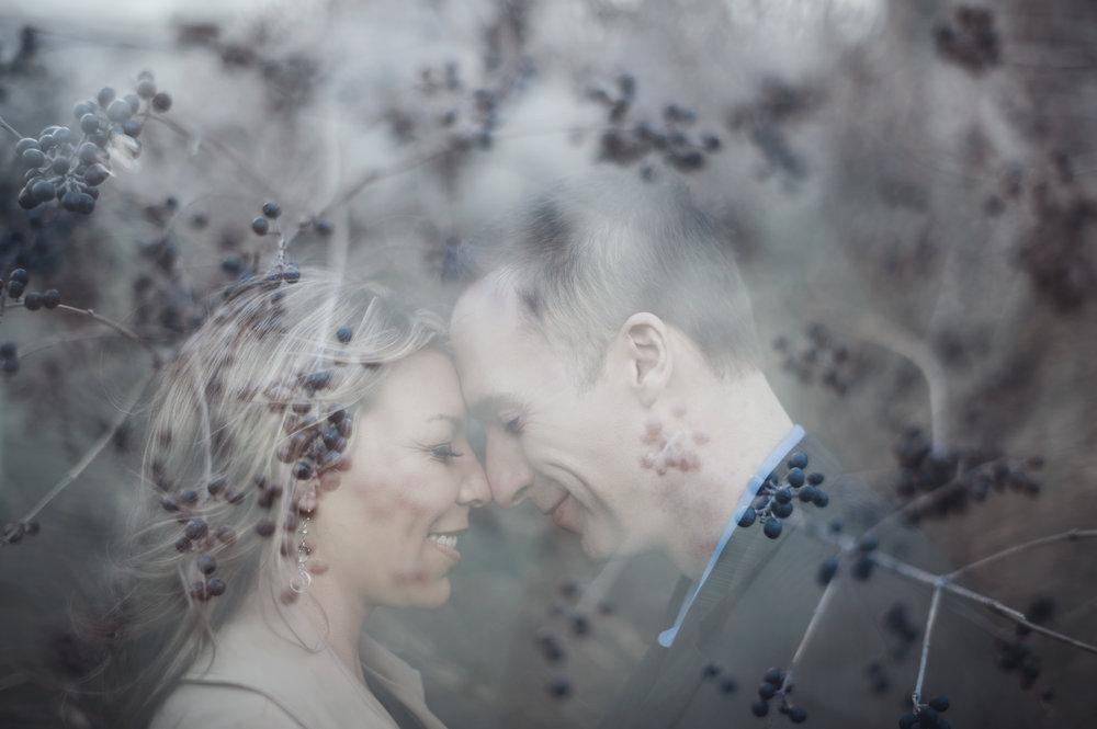 Miranda & Mike - Fine Art Engagement Photography - Double Exposure Portrait by Kelsie Taylor