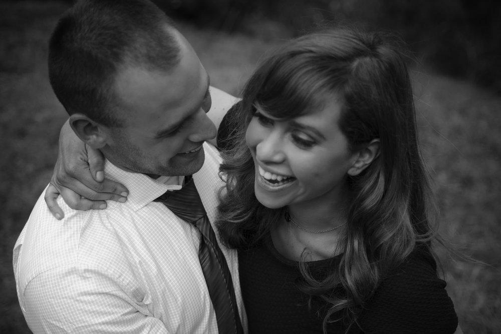 Matt & Elana - Black & White Candid Engagement Photography
