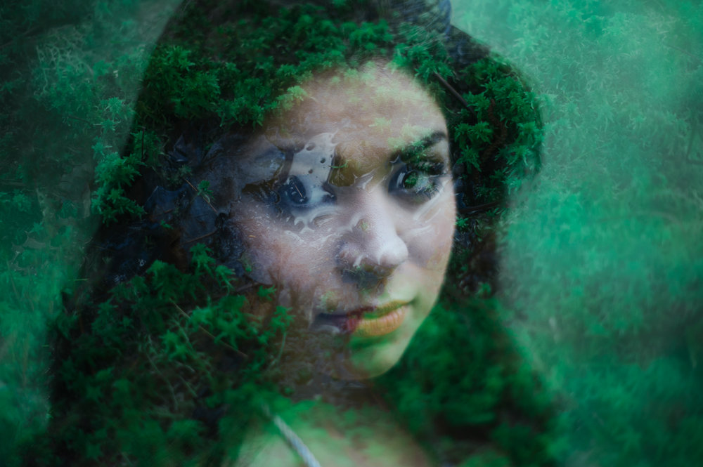 Earth Goddess - Conceptual Double Exposure Portraiture by Kelsie Taylor
