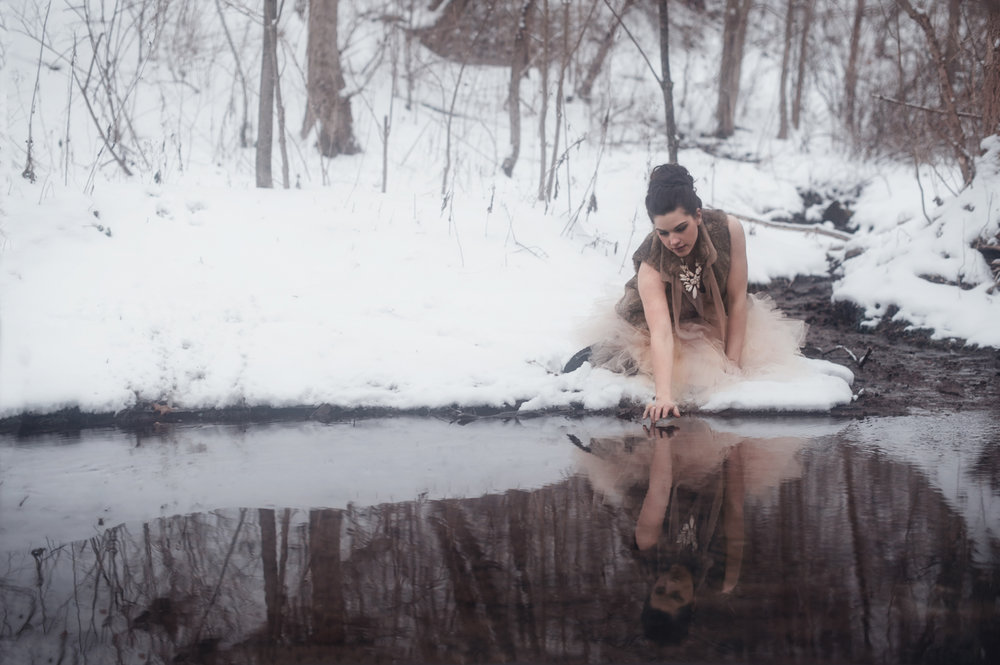 Nature's Mirror - Winter Narrative Photography