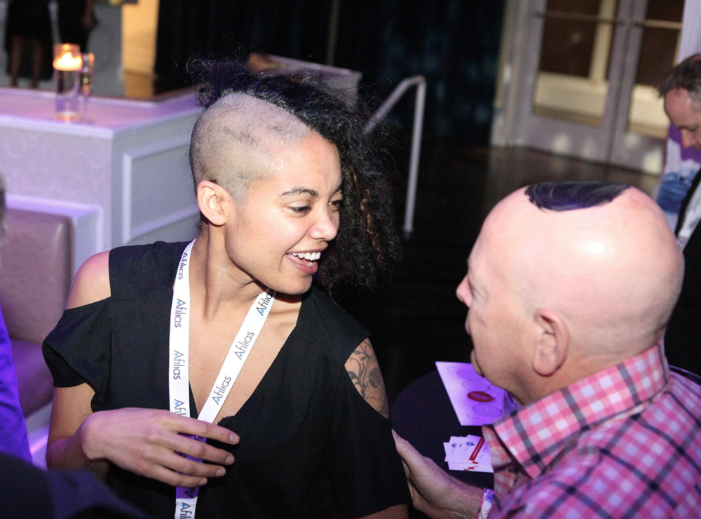 I shaved my head in support of clean water at NamesCon