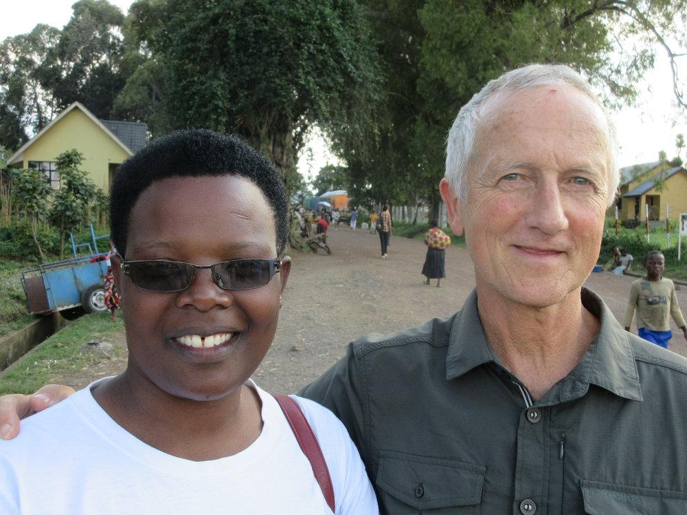 Dick Brown meets with Annet Kampire, BSc, a veteran WaterSchool trainer in Kisoro District.