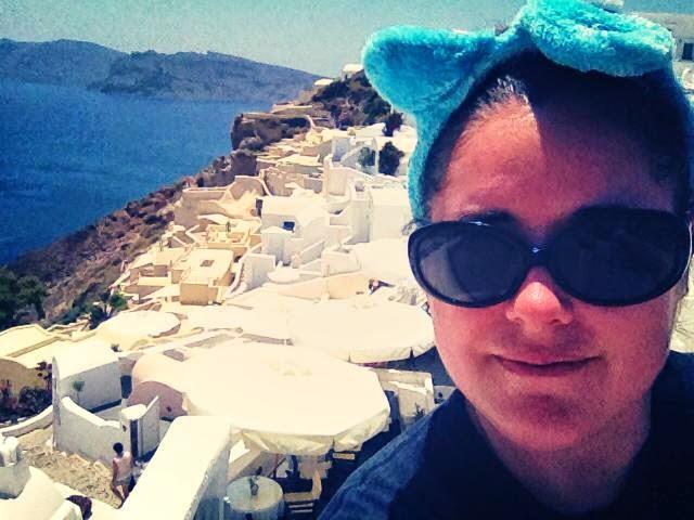 Heather Molina in Santorini.