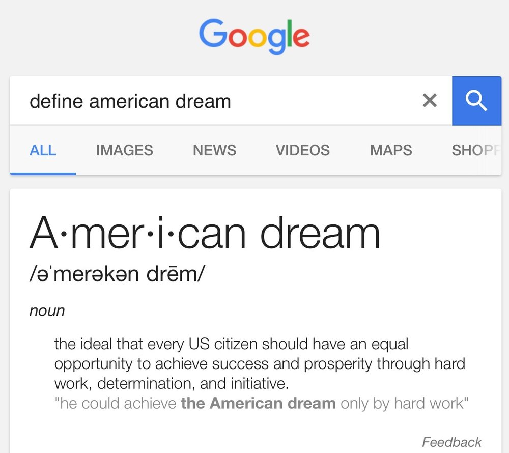 "defining the ""american scheme"" now er i mean ""american dream"
