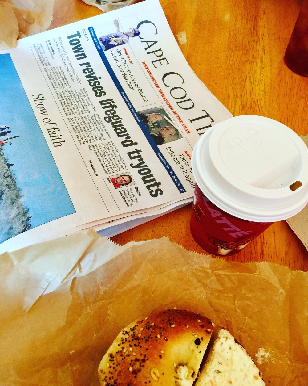 Coffee and a small Cape town daily newspaper.  Classic.