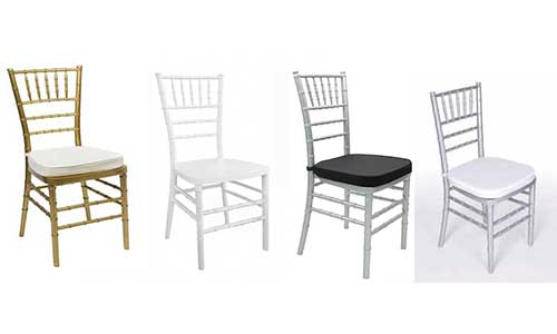 Chiavari Chair - gold, white and silver