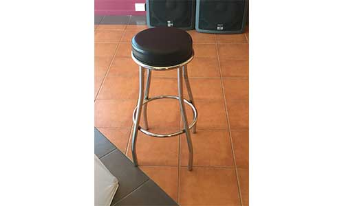 Chrome Steel Bar Stool