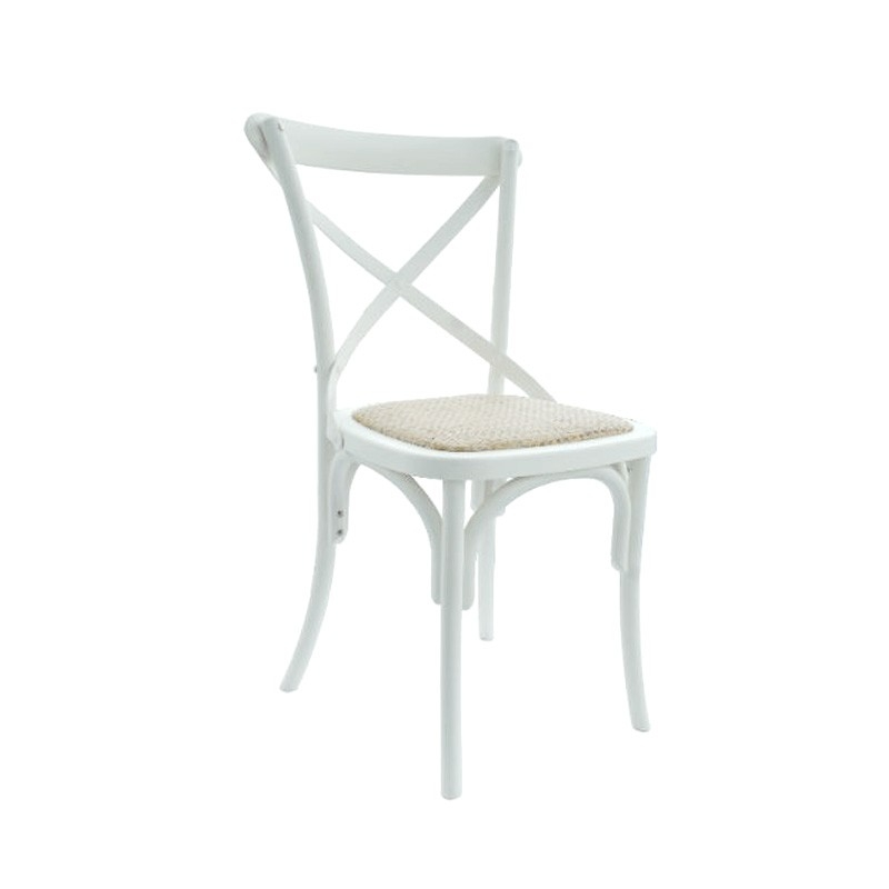 White crossback chair - A Simple and elgegant chair, suitable for a wide range of functions and events.