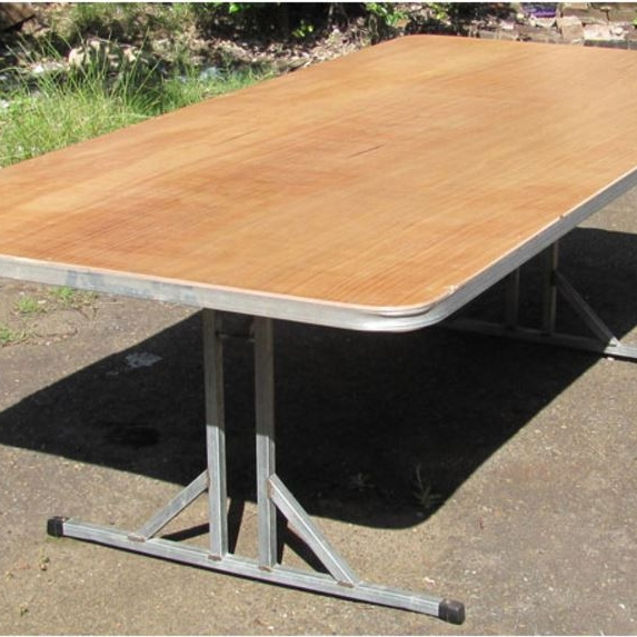Rectangular table - Rectangular Table 2.4m x 1m with folding legs.