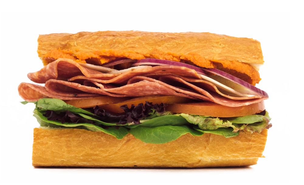 FLOAT'S ITALIAN Sopressata, Salami, Manchego cheese, Spring Mix, Tomato, Onion, Oil & Vinegar, Sundried Tomato Spread