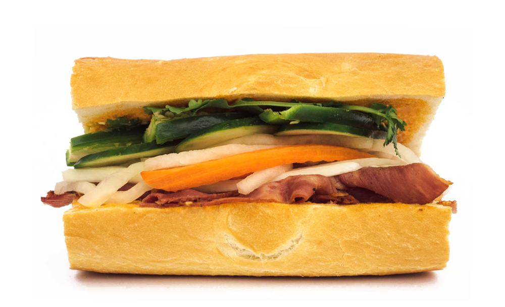 special! Pastrami Banh Mi Hot Pastrami, Pickled Carrot and Daikon, Cucumber, Red Onion, Cilantro