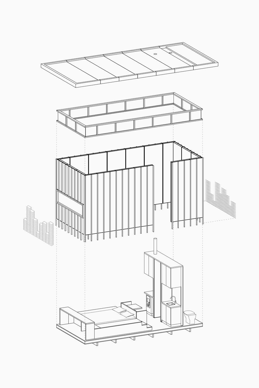 SYDNEY-RESIDENTIAL-ARCHITECT-TRIAS-STUDIO-SLATE CABIN-AXO
