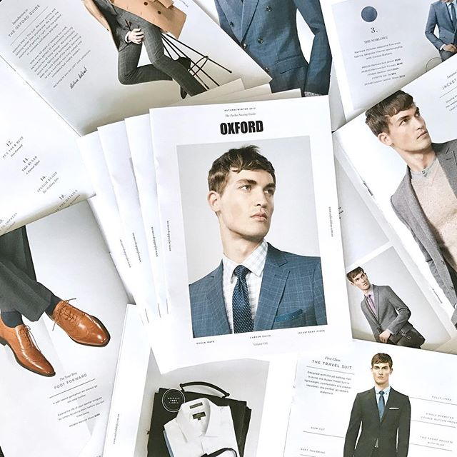 Hot off the press! Our @oxfordshop Suiting Guide #oxfordstyle #studiowoo #creative