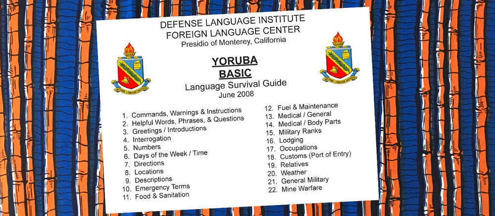 Yoruba language courses orisha image defense language institute foreign language center yoruba basic language survival guide california 2008 m4hsunfo