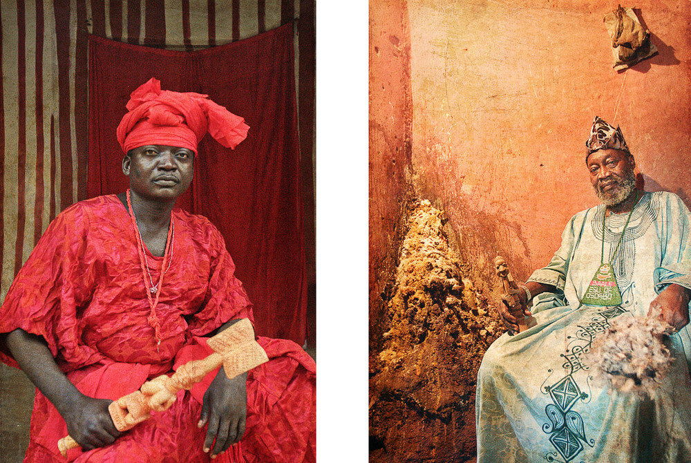 Orisa Sango (Deity of Thunder) Prince Adewale Oke / Orisa Esu (The Morning Star) Chief Kayode Idowu Esuleke.©Adolphus Opara
