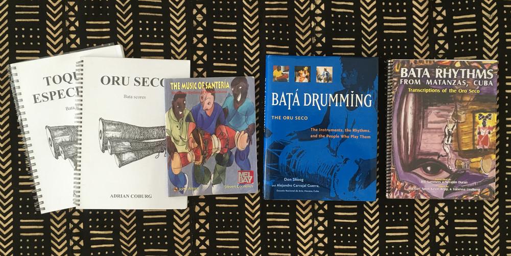 bata drumming, books, orisha image, yoruba book, oru seco, oru cantado