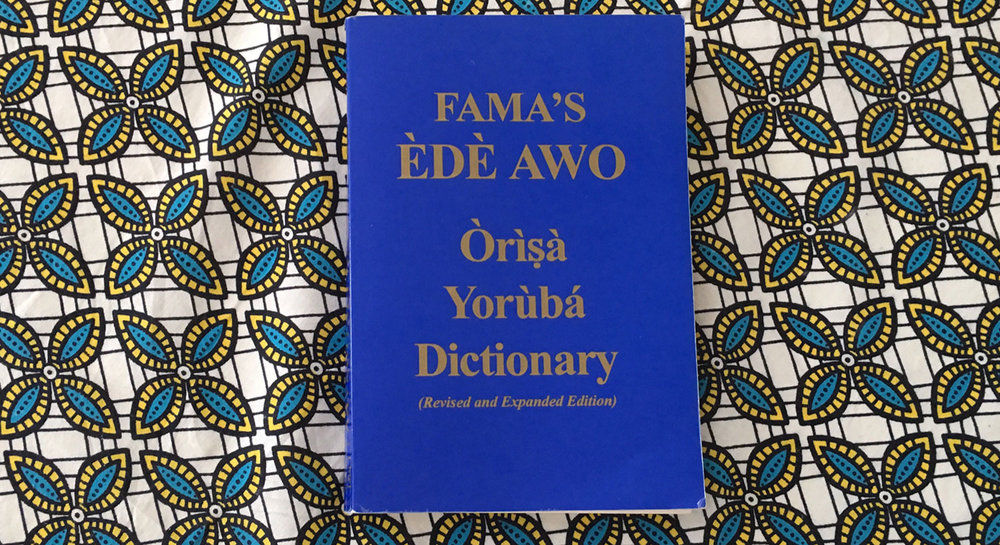 chief fama dictionary, orisha dictionary, yoruba, lukumi