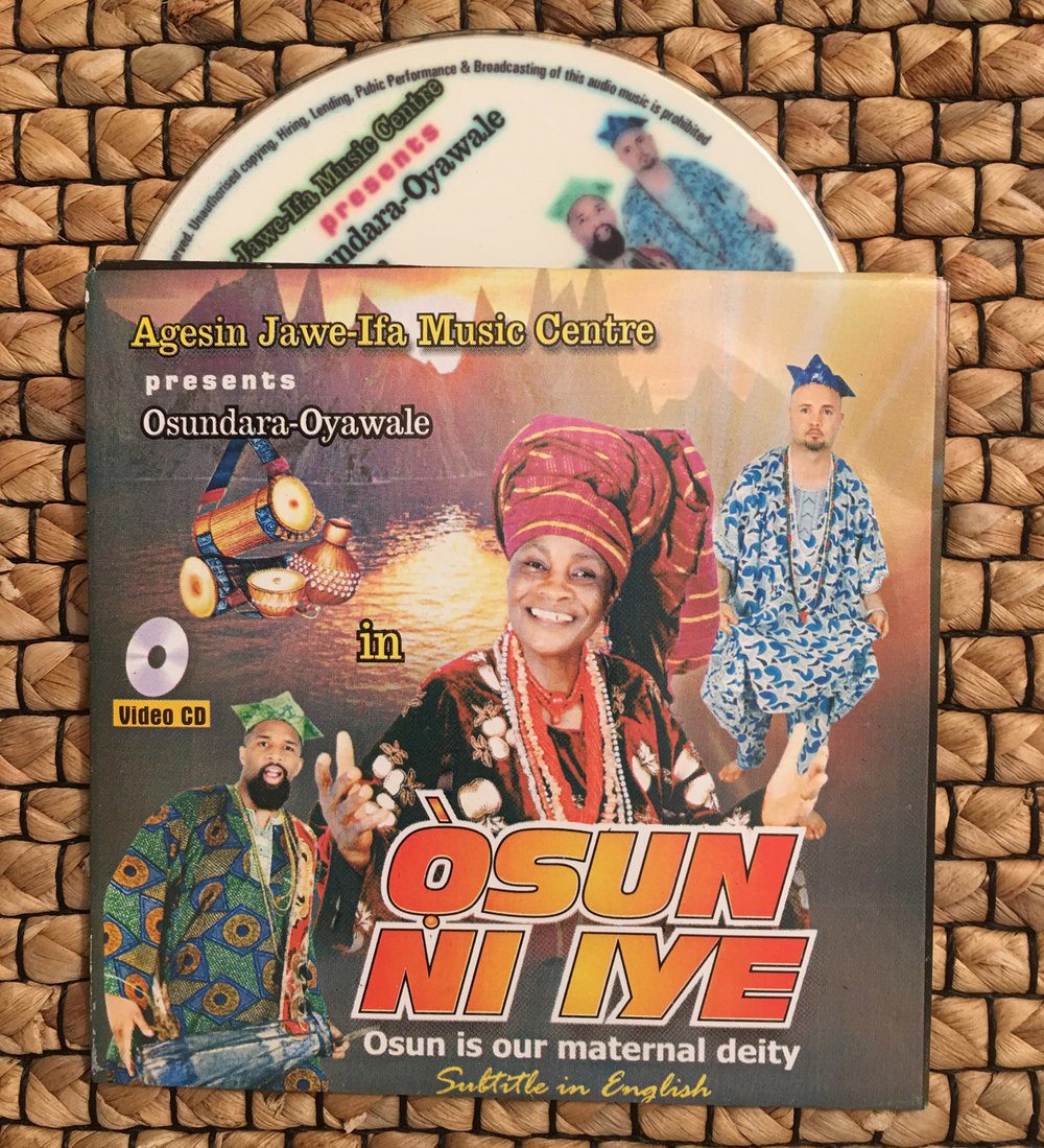 The DVD with songs for Òrìṣà Ọ̀ṣun, recorded in Òṣogbo, Nigeria. ©Nathan Lugo
