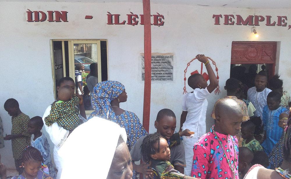 Odu Idin Ìlẹkẹ é o sinal da cidade Yorùbá de Osogbo com o Bosque Sagrado de Osun.