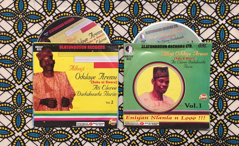 Two of the albums already available as CDs on the Nigerian market.©Kọ́lá Túbọ̀sún