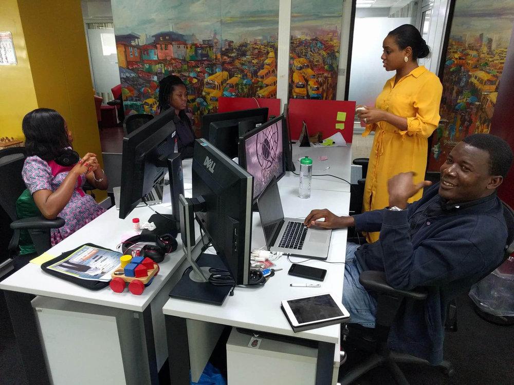 At the office of Google Nigeria, where Kọ́lá Túbọ̀sún worked as a Speech Linguistics Project Manager.©Kọ́lá Túbọ̀sún