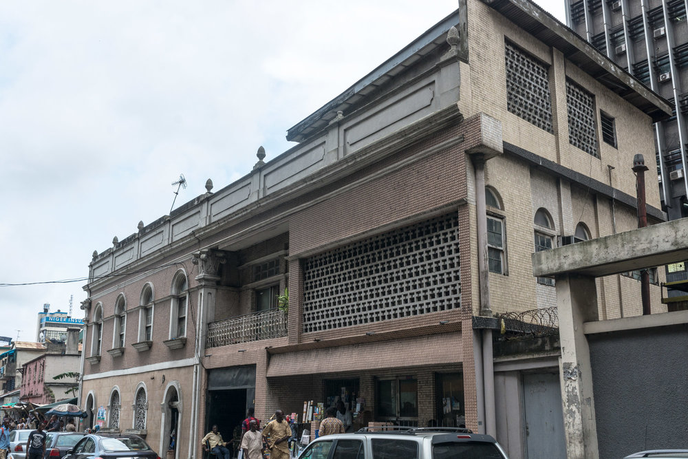 Candido da Rocha's house, Popo Aguda, Lagos. He was born to a Yorùbá father in Brazil. The house got the name 'Ilé Olómi' as it was one of the first that was connected to public water supply. ©Aderemi Adegbite