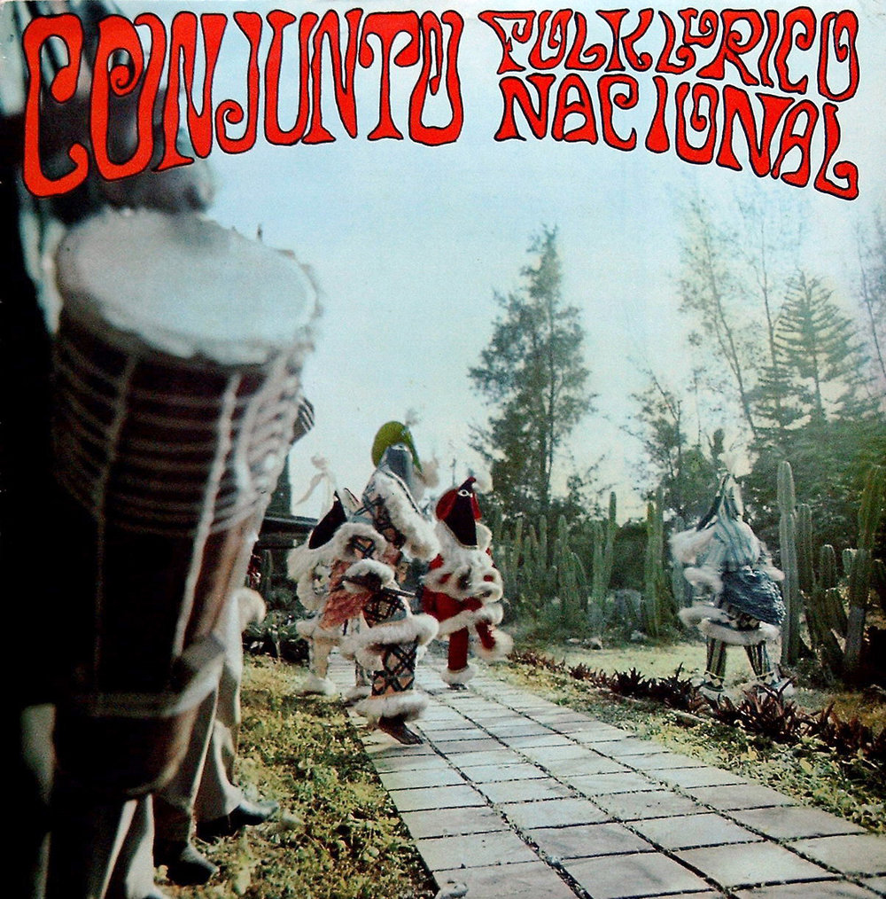 The first LP cover of the Conjunto Folklórico Nacional de Cuba, showing Abakuá dancers, a tradition from the Calabar region in present day Nigeria, the Ekpe/Efik mask dances.